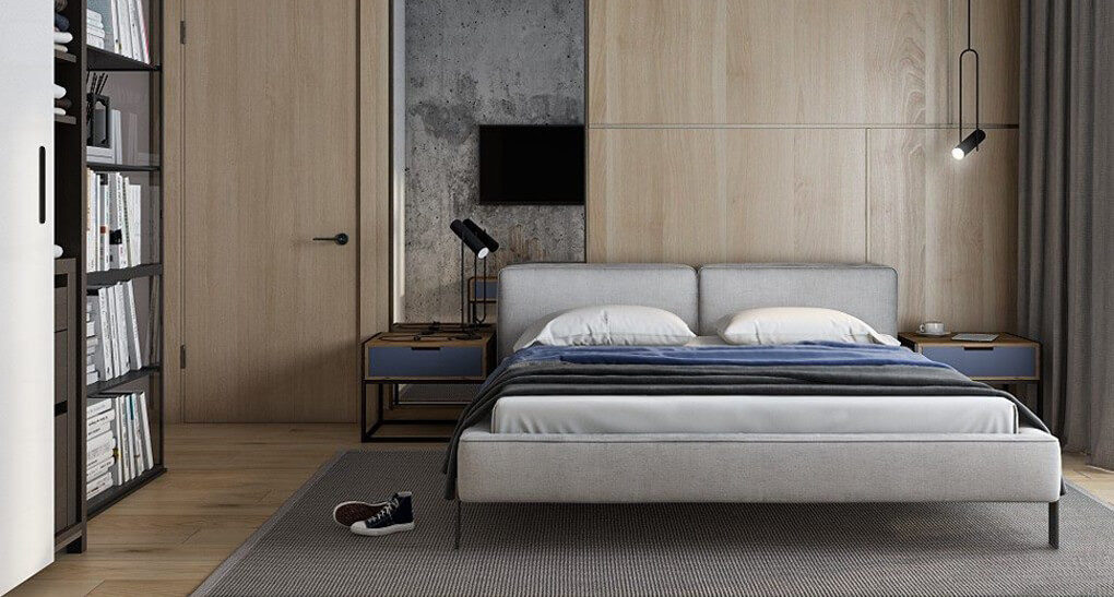 Vogue bed in the interior фото 6-1