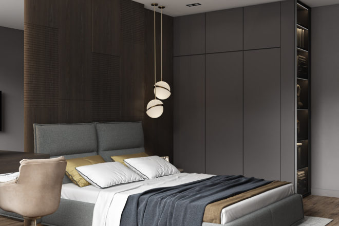 Кровать LANA в проекте Архитектурного Бюро Полякова