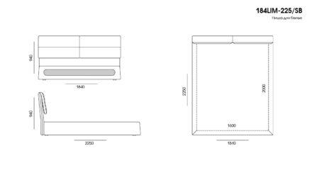 Кровать Limura размеры фото 4