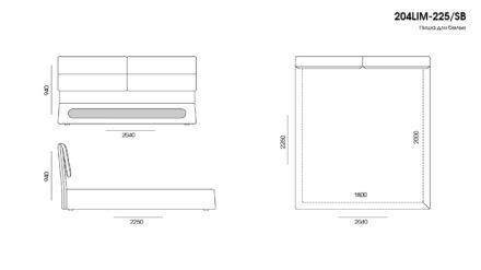 Кровать Limura размеры фото 6