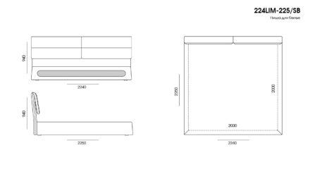 Кровать Limura размеры фото 8