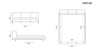 Кровать Eterna размеры фото 1