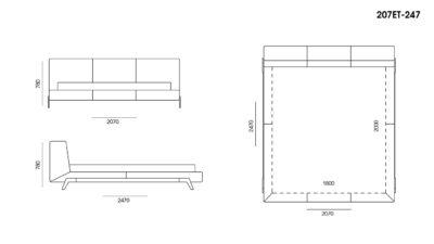Кровать Eterna размеры фото 2