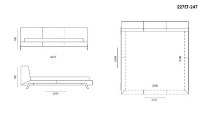 Кровать Eterna размеры фото 3