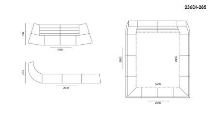 Кровать Dionigi размеры фото 1
