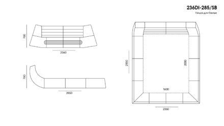 Кровать Dionigi размеры фото 2