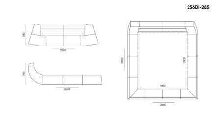 Кровать Dionigi размеры фото 3