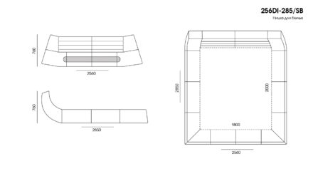 Кровать Dionigi размеры фото 4