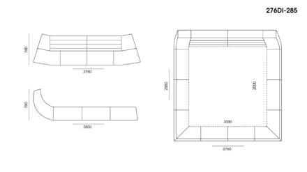 Кровать Dionigi размеры фото 5