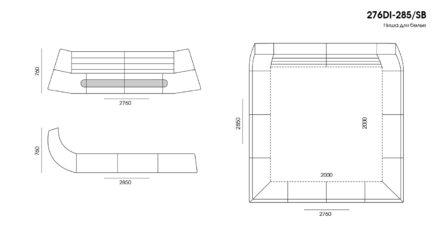 Кровать Dionigi размеры фото 6