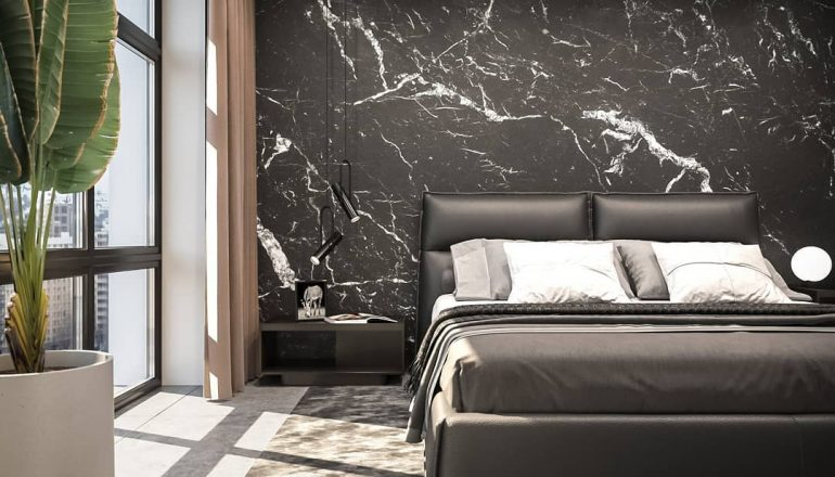 Bedroom design is full of mystery and elegance