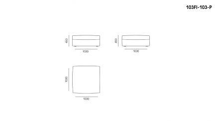 FIO sofa размеры фото 6
