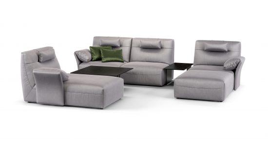 Corner sofa with coffee tables sofa фото