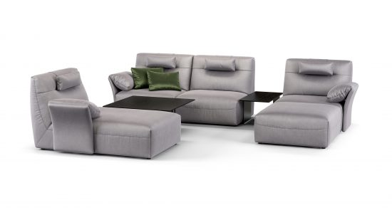 Угловой диван со столиками FIO фото