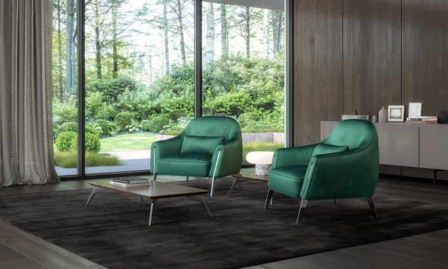 PANDORA L armchair фото в интерьере