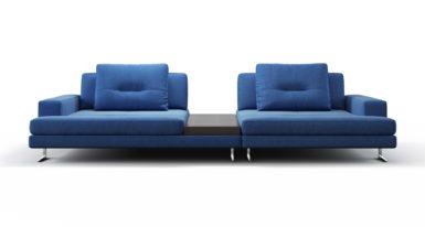 Двухместный диван со столиком Ermes фото