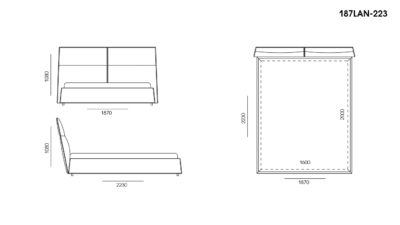 Кровать LANA размеры фото 1