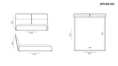 Кровать LANA размеры фото 3