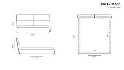 Кровать LANA размеры фото 4
