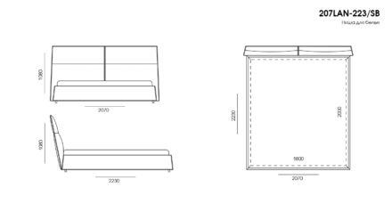 LANA bed размеры фото 4