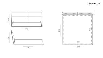 Кровать LANA размеры фото 5