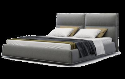 кровать с изголовьем и нишей для белья