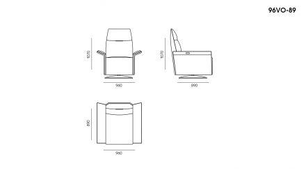 Кресло VOYAGE размеры фото 1