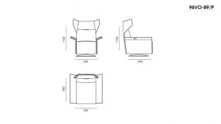 Кресло VOYAGE PLUS размеры фото 1